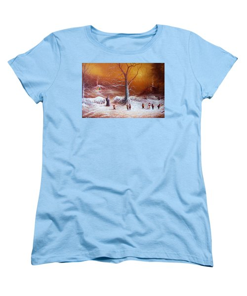 The Shire First Snowfall Women's T-Shirt (Standard Cut) by Joe Gilronan