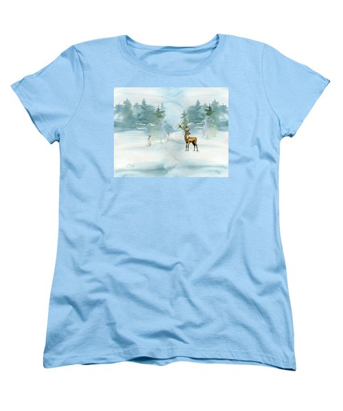 The Soft Arrival Of Winter Women's T-Shirt (Standard Cut) by Colleen Taylor