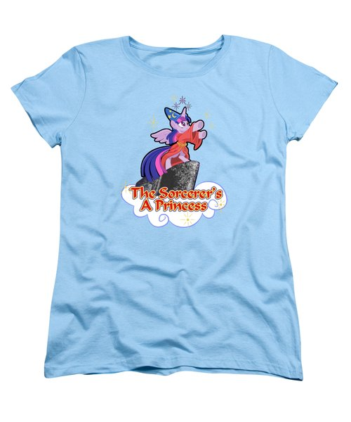 Women's T-Shirt (Standard Cut) featuring the digital art The Sorcerer's A Princess by J L Meadows