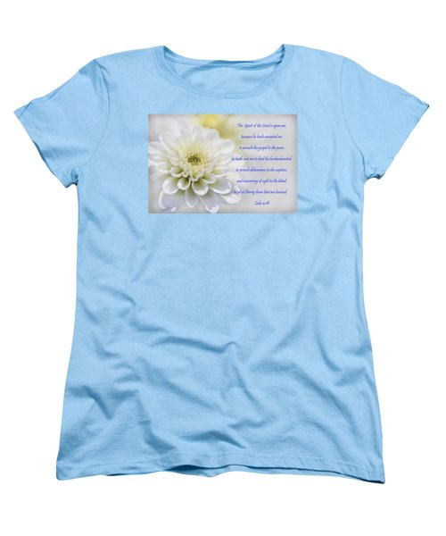 The Spirit Of The Lord Is Upon Me Women's T-Shirt (Standard Cut) by Kathy Clark