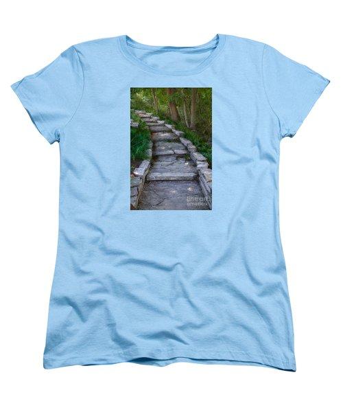 The Steps Women's T-Shirt (Standard Cut) by David Blank