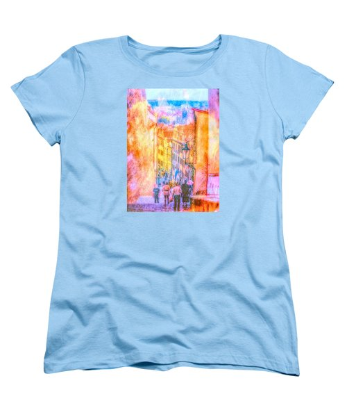 The Streets Of Prague Women's T-Shirt (Standard Cut) by Andreas Thust