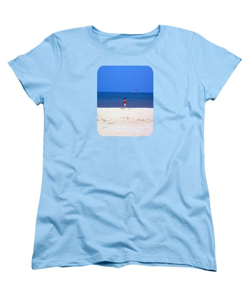 Women's T-Shirt (Standard Cut) featuring the photograph The Swimmer by Ethna Gillespie