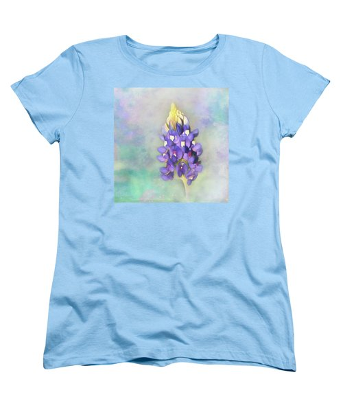 Women's T-Shirt (Standard Cut) featuring the photograph The Texas State Flower The Bluebonnet by David and Carol Kelly