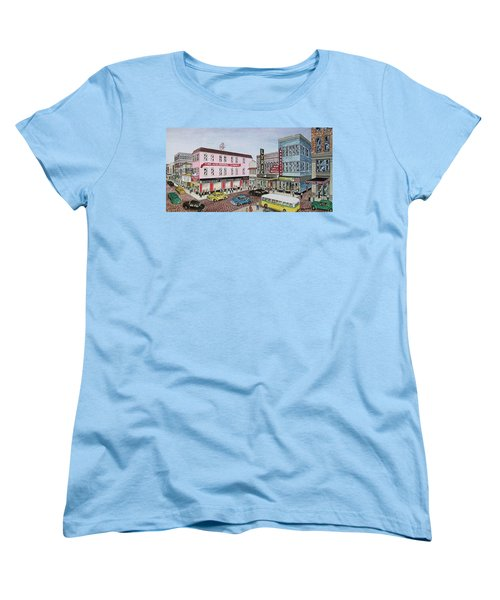 The Theater District Portsmouth Ohio 1948 Women's T-Shirt (Standard Cut) by Frank Hunter