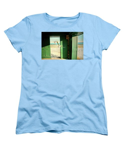 Women's T-Shirt (Standard Cut) featuring the photograph The Thruway by Diana Angstadt