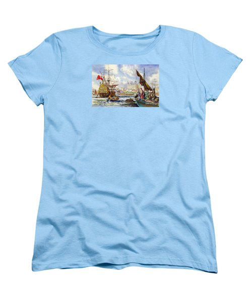 The Tower Of London In The Late 17th Century  Women's T-Shirt (Standard Cut) by English School