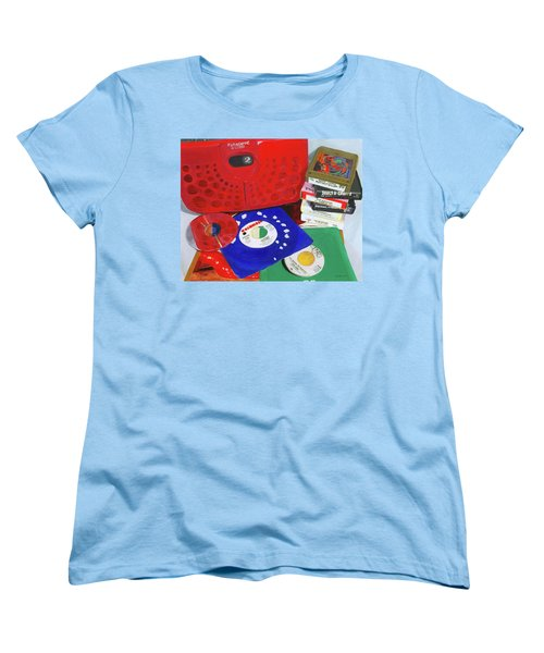 Women's T-Shirt (Standard Cut) featuring the painting The Universal Language by Lynne Reichhart