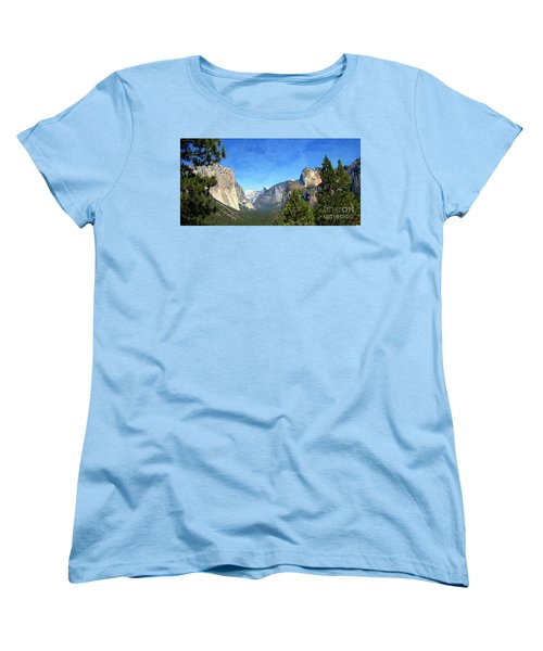The Valley Of Inspiration-yosemite Women's T-Shirt (Standard Cut) by Glenn McCarthy Art and Photography