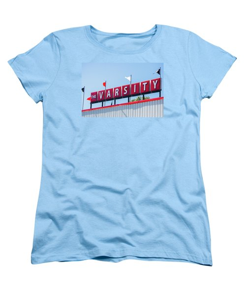 Women's T-Shirt (Standard Cut) featuring the photograph The Varsity Sign by Parker Cunningham