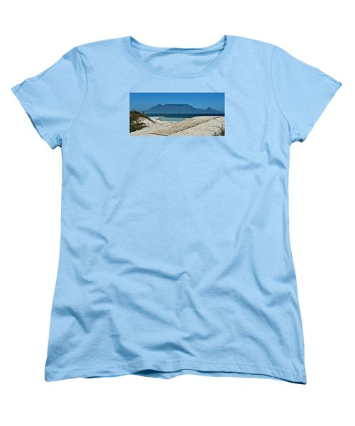 Women's T-Shirt (Standard Cut) featuring the photograph The View At Table Mountain by Werner Lehmann