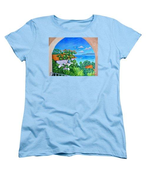The View From A Window Women's T-Shirt (Standard Cut) by Laura Forde