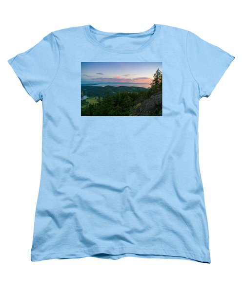 The View From Mt Erie Women's T-Shirt (Standard Cut) by Ken Stanback