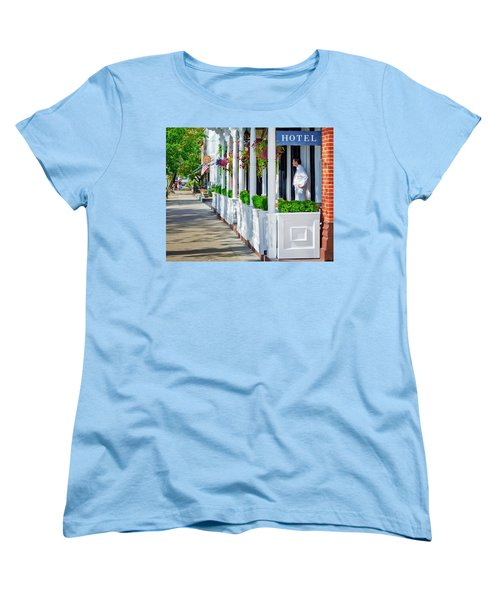 The Waiter Women's T-Shirt (Standard Cut) by Keith Armstrong