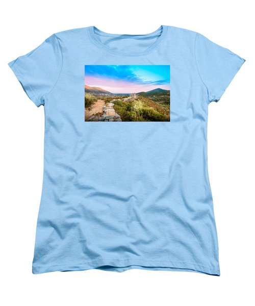 The Walls Of Ancient Messene - Greece. Women's T-Shirt (Standard Cut) by Stavros Argyropoulos