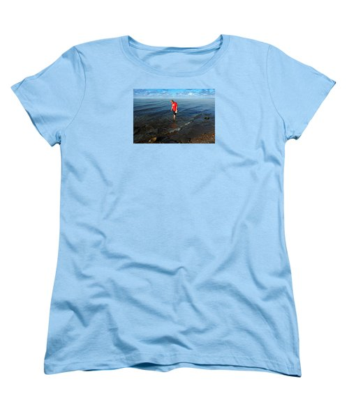 The Water's Fine Women's T-Shirt (Standard Cut) by Lena Wilhite