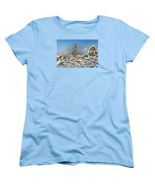 The Waxwing Tree Women's T-Shirt (Standard Cut) by Dawn Senior-Trask