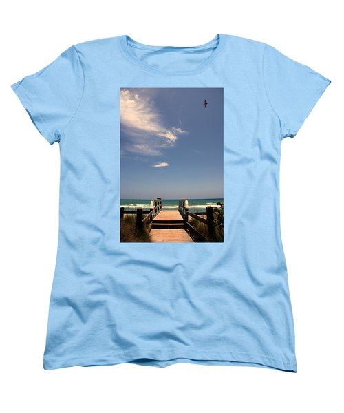 The Way Out To The Beach Women's T-Shirt (Standard Cut)