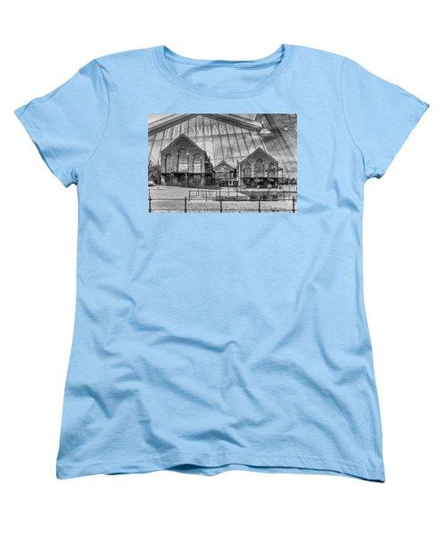 The Wharf Cardiff Bay Mono Women's T-Shirt (Standard Cut) by Steve Purnell