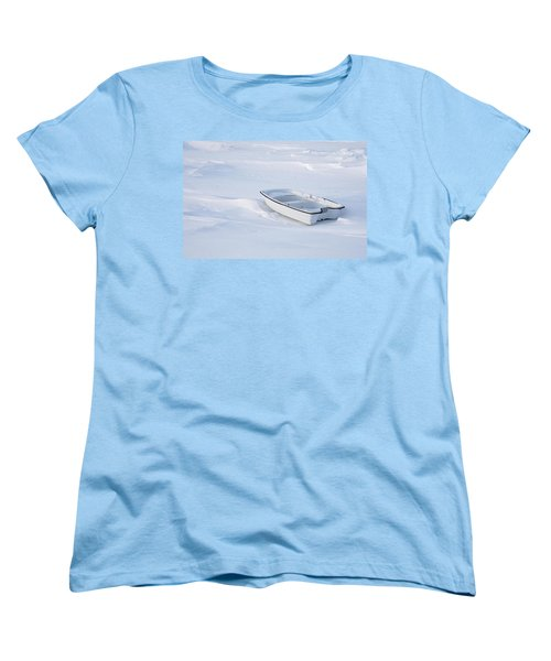 The White Fishing Boat Women's T-Shirt (Standard Cut) by Nick Mares