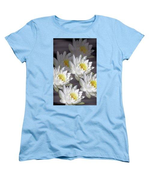The White Garden Women's T-Shirt (Standard Cut) by Rosalie Scanlon