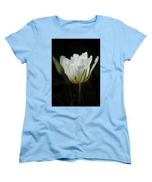 The White Tulip Women's T-Shirt (Standard Cut) by Richard Cummings