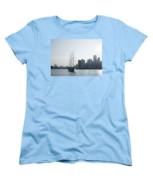 The Windy City Women's T-Shirt (Standard Cut) by John Black