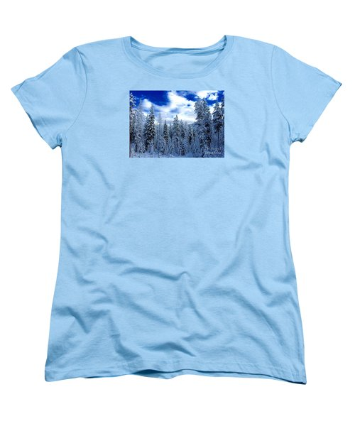 The Winter Blues  Women's T-Shirt (Standard Cut) by Jennifer Lake