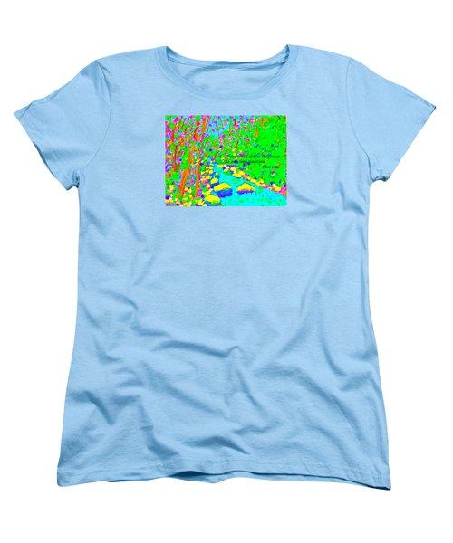 This World Is But A Canvas Women's T-Shirt (Standard Cut) by Deborah Dendler