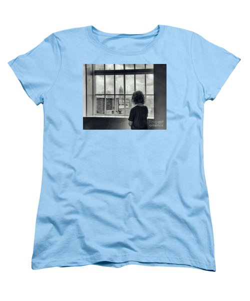 The World Outside My Window Women's T-Shirt (Standard Cut) by Laurinda Bowling