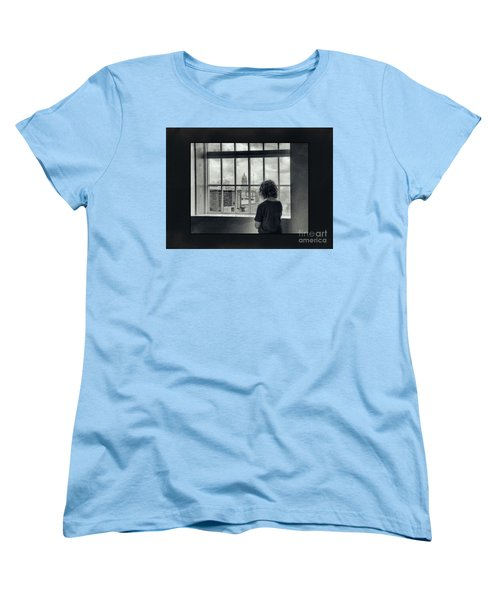 The World Outside My Window Number II  Women's T-Shirt (Standard Cut) by Laurinda Bowling