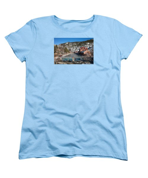 The World's Largest Hot-springs Pool At The Spa Of The Rockies In Glenwood Springs Women's T-Shirt (Standard Cut) by Carol M Highsmith