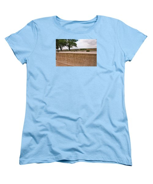 Women's T-Shirt (Standard Cut) featuring the photograph Their Name Liveth For Evermore by Travel Pics