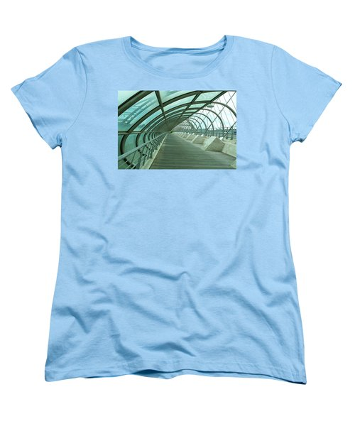 Third Millenium Bridge, Zaragoza, Spain Women's T-Shirt (Standard Cut) by Tamara Sushko