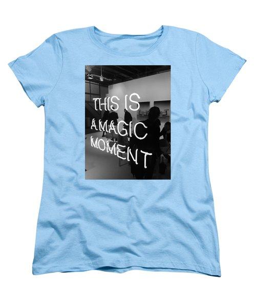 This Is A Magic Moment Women's T-Shirt (Standard Cut) by Funkpix Photo Hunter