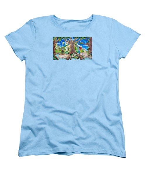 Women's T-Shirt (Standard Cut) featuring the painting This Magical Land by Matt Konar