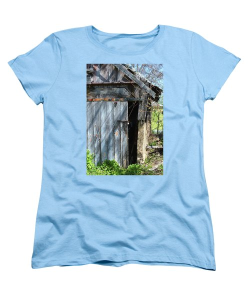 This Old Barn Door Women's T-Shirt (Standard Cut) by Kathy Kelly