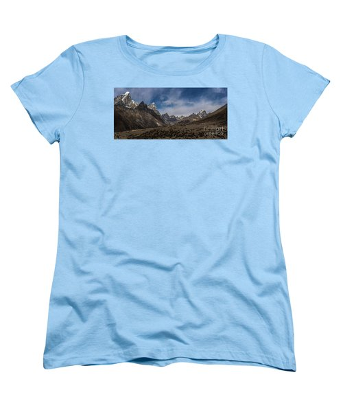 Women's T-Shirt (Standard Cut) featuring the photograph Thokla Pass Nepal by Mike Reid