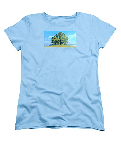 Thomas Jefferson's White Oak Tree On The Way To James Madison's For Afternoon Tea Women's T-Shirt (Standard Cut) by Catherine Twomey