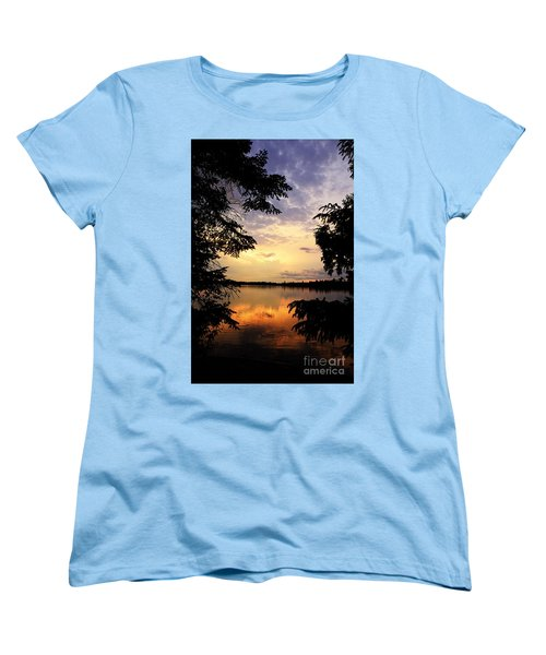 Women's T-Shirt (Standard Cut) featuring the photograph Thomas Lake Sunset 2 by Larry Ricker