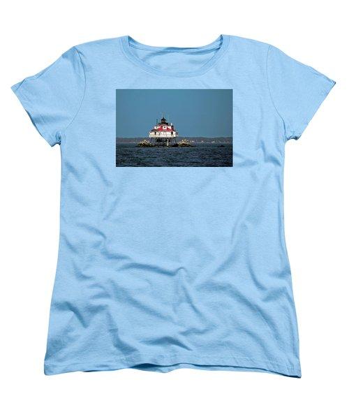 Thomas Point Shoal Light Women's T-Shirt (Standard Cut) by Sally Weigand
