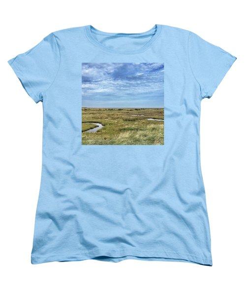 Thornham Marshes, Norfolk Women's T-Shirt (Standard Cut) by John Edwards