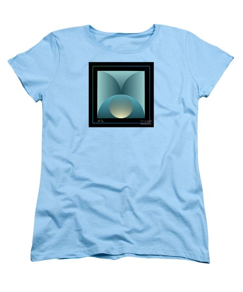 Women's T-Shirt (Standard Cut) featuring the digital art Thoughts Observation by Leo Symon