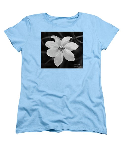 Threadleaf In Black And White Women's T-Shirt (Standard Fit)
