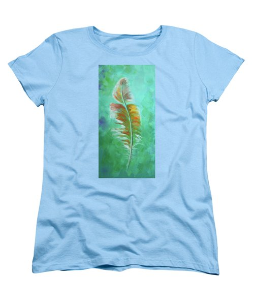 Three Feathers Triptych-left Panel Women's T-Shirt (Standard Cut)