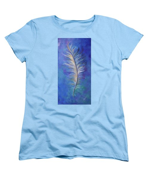 Three Feathers Triptych-right Panel Women's T-Shirt (Standard Cut) by Agata Lindquist