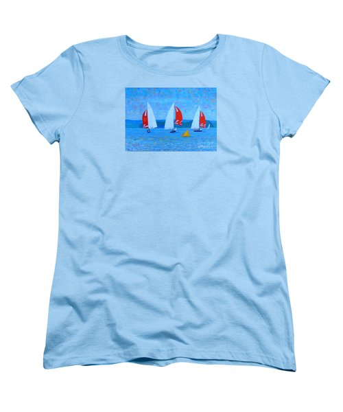Three Red Sails  Women's T-Shirt (Standard Cut) by Rae  Smith