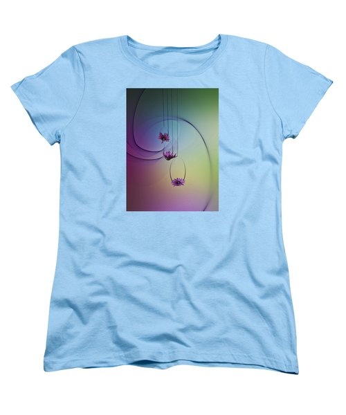 Women's T-Shirt (Standard Cut) featuring the photograph Three Swings by Judy Johnson