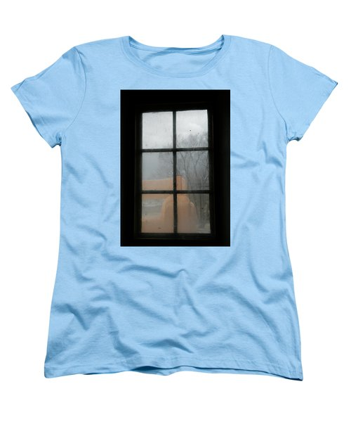 Women's T-Shirt (Standard Cut) featuring the photograph Through A Museum Window by Marilyn Hunt
