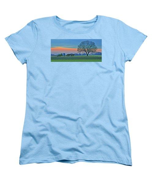 Through The Fields Women's T-Shirt (Standard Cut) by Scott Mahon